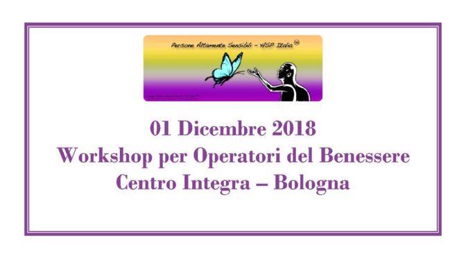 01 Dicembre – Workshop per Operatori del Benessere a Bologna